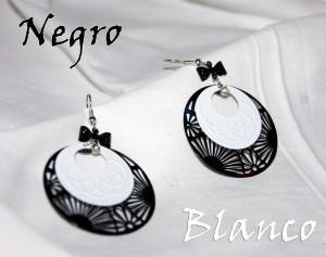 Коллекция бижутерии серии Negro&Blanco